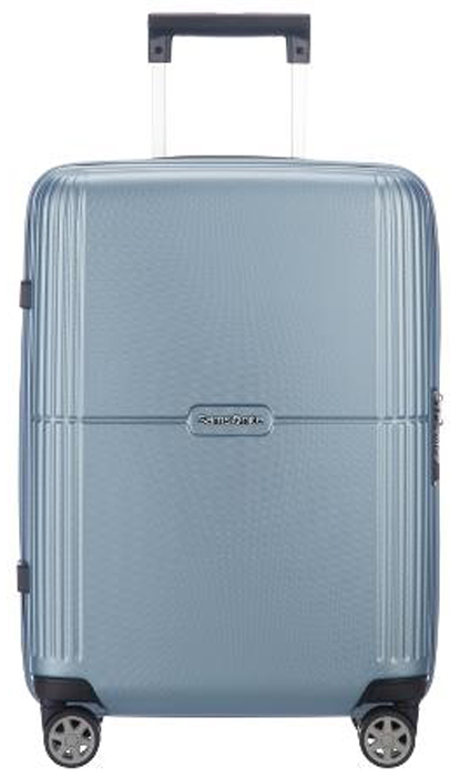 Чемодан Samsonite Orfeo, цвет: серебристо-голубой, 37 л. CC4-25001CC4-25001Чемодан Samsonite Orfeo - это практичный и легкий чемодан, выполненный из качественного поликарбоната, очень прочного и устойчивого к износу материала.Чемодан закрывается на удобную застежку-молнию с двойным бегунком и оснащен замком безопасности TSA, который исключает возможность взлома при досмотре во время путешествий. Отверстие в кодовом замке предназначено для работников таможни (открытие багажа для досмотра без присутствия хозяина). Ключ находится только у таможни.Высококачественная фурнитура гарантирует прочность всех деталей, надежность молний и плавность выдвижной ручки с регулируемой высотой, а двойные колеса обеспечивают плавность хода вашему чемодану.Выдвижная ручка, фиксирующаяся в нескольких положениях, обеспечивает хорошую устойчивость и может быть отрегулирована под рост каждого пользователя.Внутри чемодан состоит из двух отделений, которые дополнены встроенным разделителем. Одно из отделений выполнено с багажными ремнями, соединяющимися при помощи пластикового карабина. На крышке, с внутренней стороны предусмотрено отделение на застежке молнии.Модель оснащена четырьмя вращающимися пластиковыми колесами, которые обеспечивают легкость перемещения в любом направлении.Также сверху и сбоку предусмотрены ручки для поднятия чемодана.Как выбрать чемодан. Статья OZON Гид