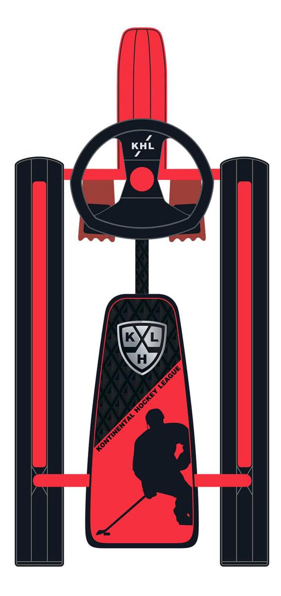Снегокат КХЛ, цвет: красный, 90 x 58 x 30 смУТ-00011319Классическая, проверенная годами конструкция снегоката КХЛ создана специально для маленьких любителей зимних спортивных развлечений.Прочная стальная рама выдерживает вес пользователя до 100 кг. Лыжи и руль выполнены из прочного морозостойкого полипропилена, максимально снижающего вес снегоката.Мягкое яркое сиденье, полностью обтянутое искусственной кожей, очень удобно и обеспечивает комфортное катание даже в морозные дни. Пружинный амортизатор, установленный на передней лыжне снегоката, обеспечивает более комфортную эксплуатацию изделия, а два независимых ножных тормоза позволяют уверенно маневрировать на снежных трассах.Предназначен для перевозки по плотному снегу или льду и катания с горок детей от 3 до 10 лет.