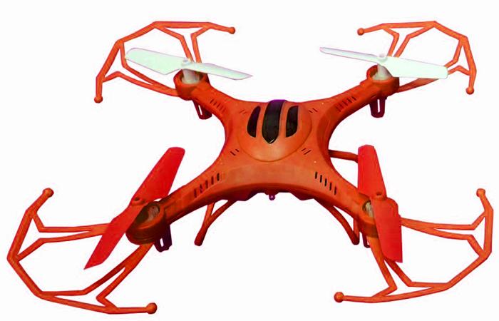 Властелин небес Квадрокоптер на радиоуправлении Послушный цвет оранжевый