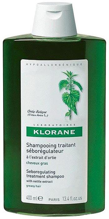 Klorane Шампунь с экстрактом крапивы себорегулирующий, 400 млC06323Лечебный себорегулирующий шампунь с экстрактом крапивы с мягкой моющей основой придает объем волосам и облегчает расчесывание волос, регулирует секрецию сальных желез, позволяя, таким образом, увеличить интервал между мытьем головы. Волосы становятся шелковистыми, мягкими и воздушными. Гипоаллергенно.