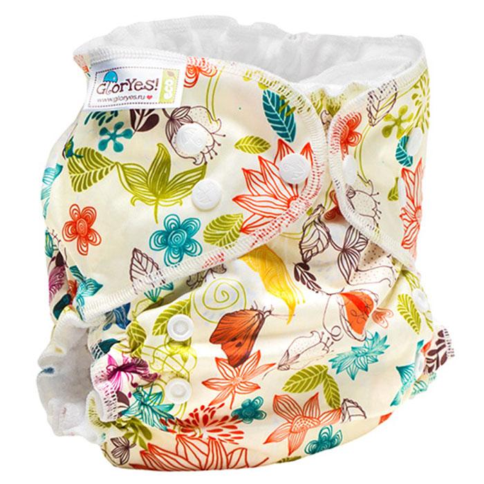 GlorYes! Многоразовый подгузник Classic+ Летний 3-18 кг + два вкладыша -  Подгузники и пеленки