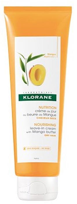 Klorane Крем питательный несмываемый для волос с маслом манго, 125 млC53964Питательный несмываемый крем защищает волосы от механического повреждения, укрепляет, предотвращает появление секущихся кончиков, придает локонам шелковистость и эластичность. Масло манго разглаживает и смягчает волосы. Поликватерниум-7 придает волосам блеск и силу, облегчает расчесывание.