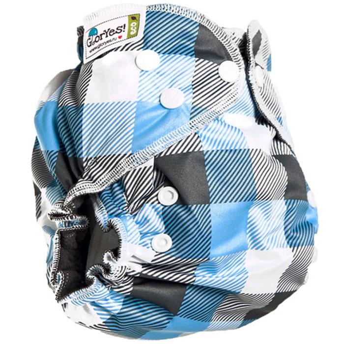 GlorYes! Многоразовый подгузник Optima Клетка 3-18 кг + два вкладыша автомобильные аккумуляторы optima r 3 7 купить в украине