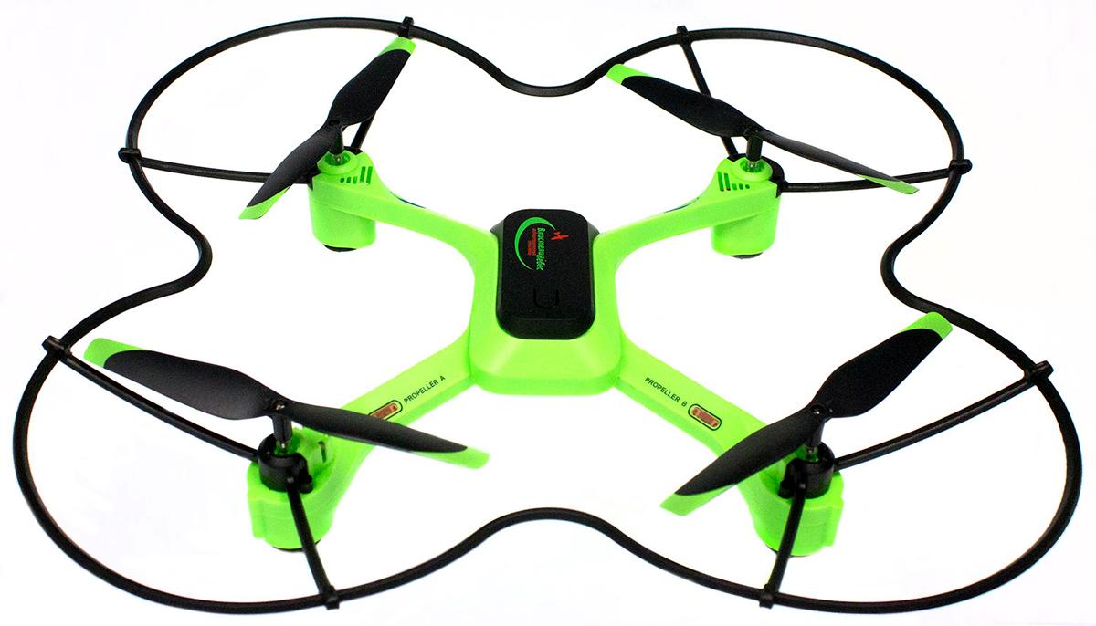 Властелин небес Квадрокоптер на радиоуправлении Стример цвет зеленый властелин небес вертолет на радиоуправлении ветерок цвет зеленый