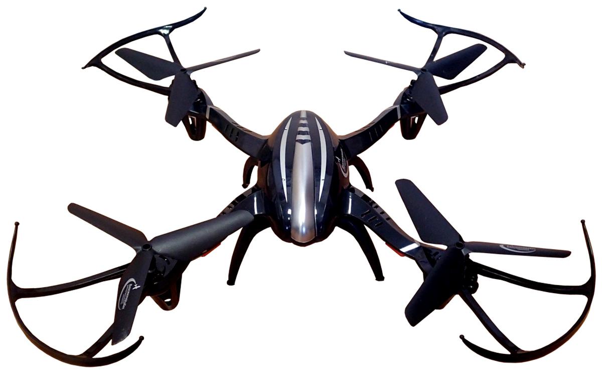 Властелин небес Квадрокоптер на радиоуправлении Ястреб цвет черный