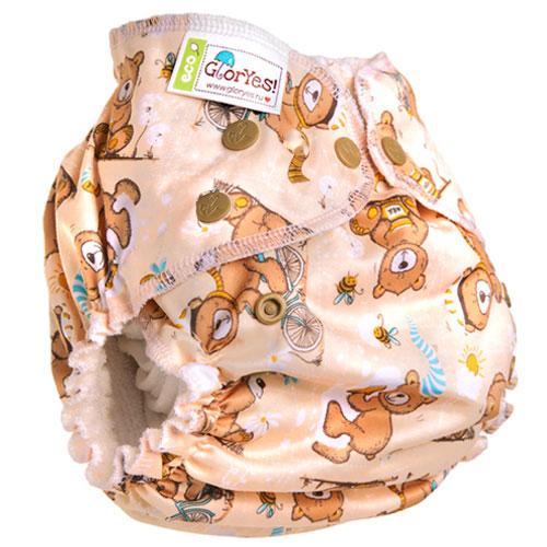 GlorYes! Многоразовый подгузник для приучения к горшку Медвежонок 3-18 кг + два вкладыша 2 pcs set baby clothing baby clothes sets toddler girl s