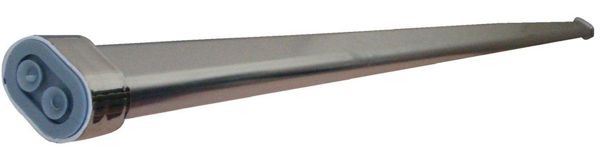 Карниз для ванной Vanstore, раздвижной, 110-200 см671-14Прямой телескопический карниз с овальным профилем, изготовленный из нержавеющей стали, устанавливается в распор между двумя стенами в ванных комнатах и любых других помещениях. Для установки карниза не требуются какие-либо крепежные элементы и дополнительные инструменты, есть возможность многократного изменения размеров, следуя инструкции, указанной на упаковке. Длину карниза можно регулировать - от 110 до 200 см. Карниз не подвержен коррозии и устойчив к царапинам. Характеристики: •Материал: нержавеющая сталь, резина. •Длина карниза: 110-200 см. •Размер упаковки: 120 см х 11 см х 2,5 см.