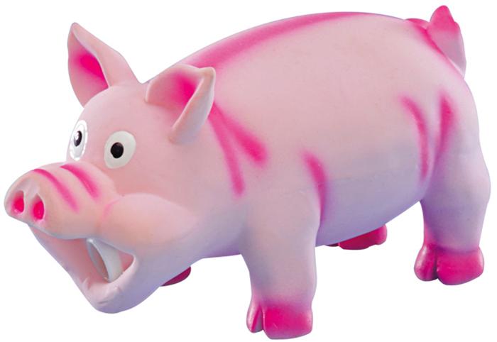 Игрушка для животных Nobby  Свинка , цвет: розовый, 15 см