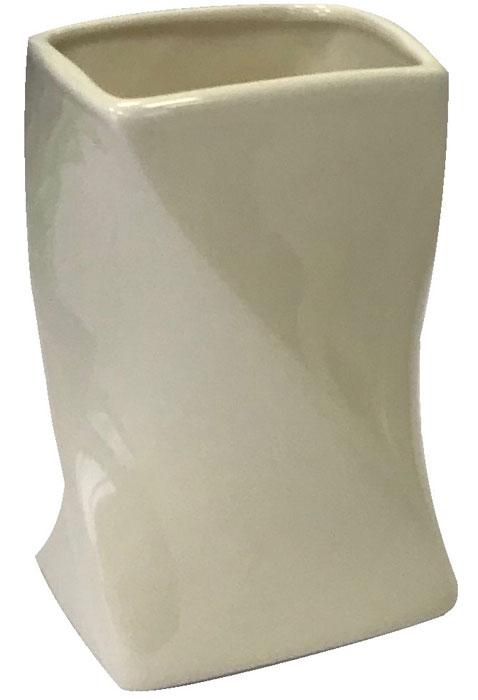 Стакан для ванной комнаты Vanstore Crema, цвет: молочный389-01Стакан Vanstore Crema изготовленный из керамики молочного цвета, с формой в виде песочныхчасов молочного цвета, отлично подойдет для вашей ванной комнаты.Серия Blanca, создаст особую атмосферу уюта и максимального комфорта в ванной.