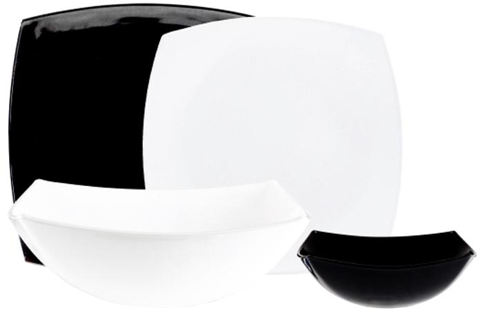 Столовый набор Luminarc Квадрато, 18 предметовC5239Столовый набор Luminarc Квадрато, 18 предметов, цвет: белый. Состав набора: тарелка обеденная 26 см - 6 шт; тарелка десертная 19 см - 6 шт; салатник 14 см - 6 шт; салатник 24 см - 1 шт.