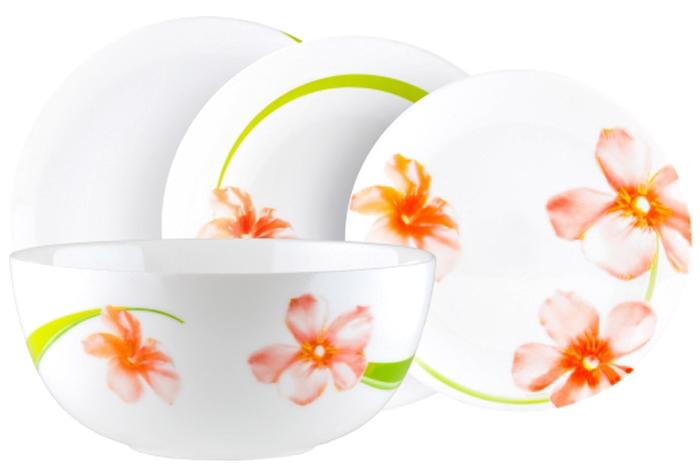 Столовый набор Luminarc Свит Импрешн, цвет: белый, розовый, салатовый, 19 предметовE4946Столовый набор Luminarc Свит Импрешн прекрасно подойдет для вашей кухни и великолепно украсит праздничный стол. Изящный дизайн изделий придутся по вкусу и ценителям классики, и тем, кто предпочитает утонченность и изысканность в дизайне.Все изделия изготавливаются на современном оборудовании по новейшим технологиям и проходят строгий контроль качества.Столовый набор Luminarc Свит Импрешн состоит из 19 предметов:десертная тарелка 19 см - 6 шт;тарелка обеденная, 25 см - 6 шт;тарелка суповая 20 см - 6 шт;салатник большой, 21 см - 1 шт.
