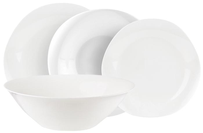 Столовый набор Luminarc Воларэ, цвет: белый, 19 предметов тарелка суповая luminarc  louis xv  23 см