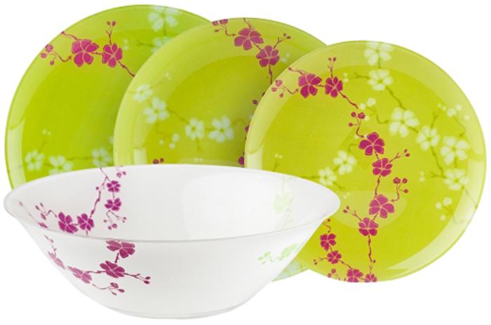 Столовый набор Luminarc Кашима Грин, 19 предметов тарелка обеденная luminarc green ode 25 см