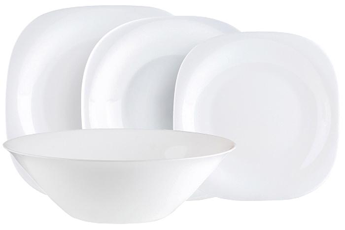 """Столовый набор Luminarc """"Carine"""" прекрасно подойдет для вашей кухни и великолепно  украсит праздничный стол. Изящный дизайн изделий придутся по вкусу и ценителям классики, и тем, кто предпочитает  утонченность и изысканность в дизайне.  Все изделия изготавливаются на современном оборудовании по новейшим технологиям и  проходят строгий контроль качества.  Набор Luminarc """"Carine"""" состоит из 19  предметов: тарелка обеденная 26 см - 6 шт;  тарелка десертная 19 см - 6 шт;  тарелка суповая 21 см - 6 шт;  салатник 27 см - 1 шт."""