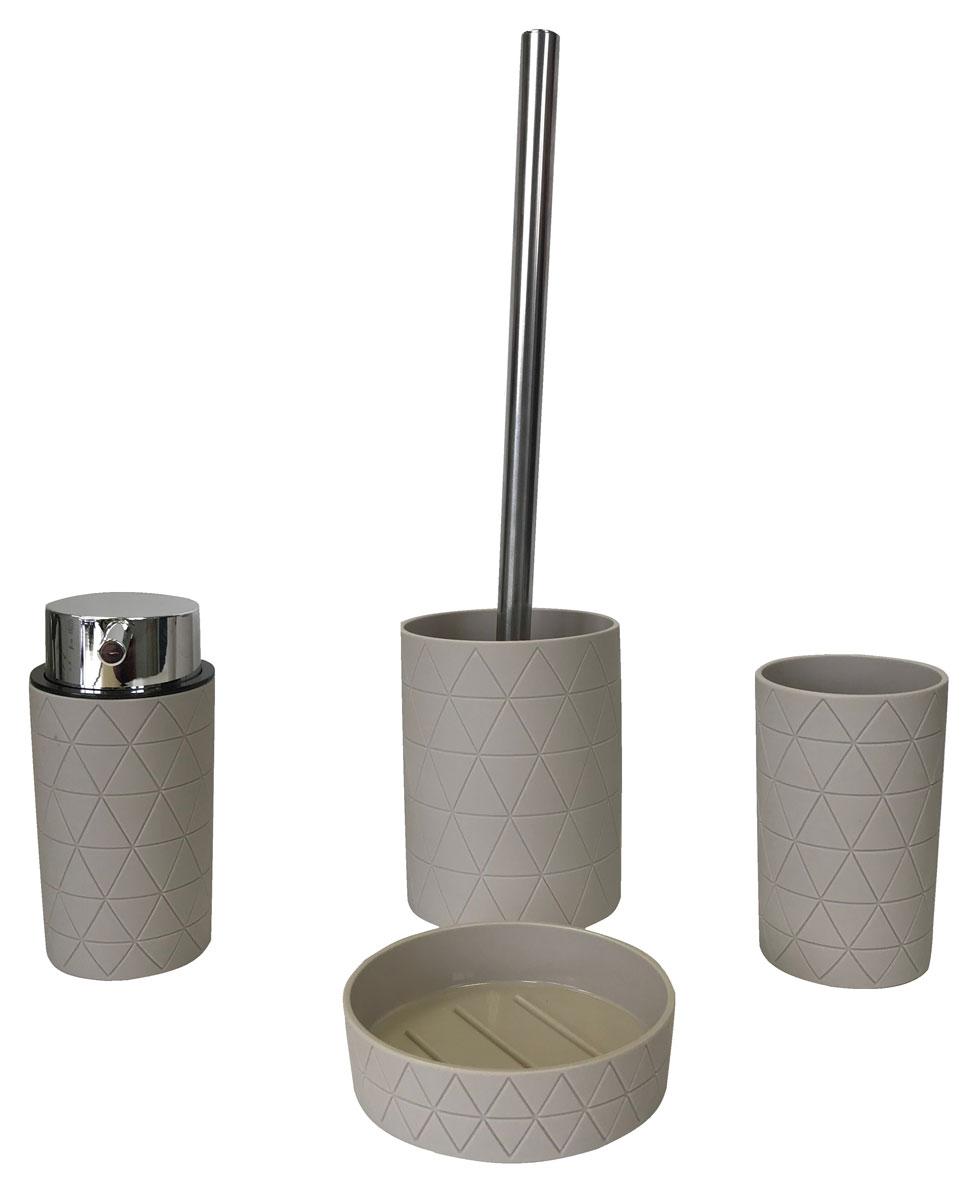 """Ершик для унитаза """"Diamond"""", изготовленный из пластика с прорезиненным покрытием Soft-Touch , отлично подойдет для вашей ванной комнаты.  Серия """"Diamond"""" создаст особую атмосферу уюта и максимального комфорта в ванной."""