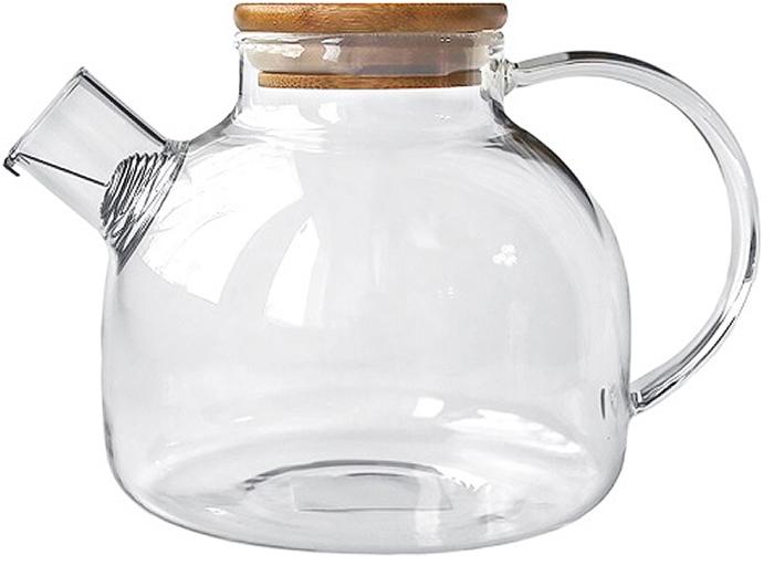 Красивый и удобный чайник выполнен из жаропрочного стекла. Идеально подходит для заваривания любых видов чая, в том числе для связанных и травяных.