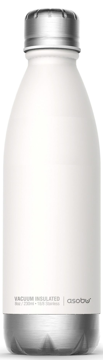 Термобутылка Asobu Central Park, цвет: белый, серебристый, 0,51 л термоконтейнер для банок и бутылок asobu frosty to 2 go chiller цвет черный