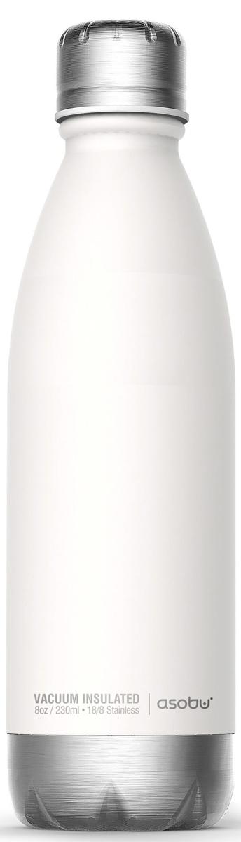Термобутылка Asobu Central Park, цвет: белый, серебристый, 0,51 л бутылка asobu ice t 2 go цвет фиолетовый 400 мл