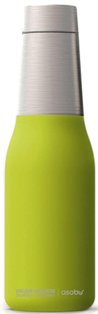 Термобутылка Asobu Oasis, цвет: зеленый, серебристый, 0,59 л