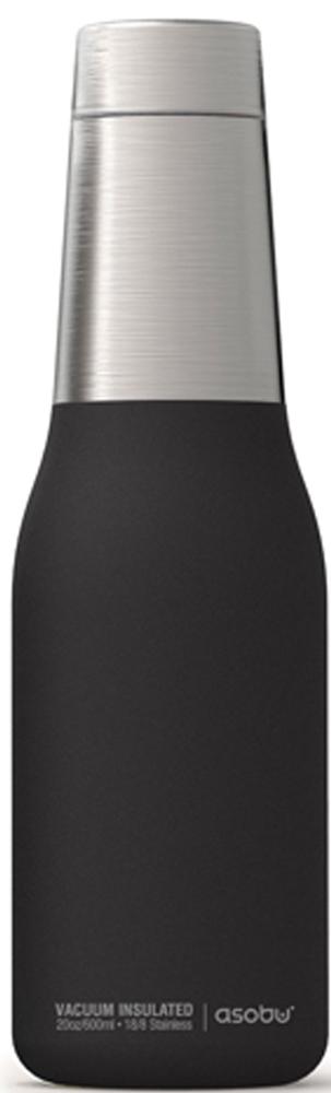 """Термобутылка Asobu """"Oasis"""", цвет: черный, серебристый, 0,59 л"""