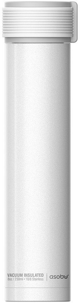 Термобутылка Asobu Skinny Mini, цвет: белый, 0,23 л бутылка asobu ice t 2 go цвет фиолетовый 400 мл