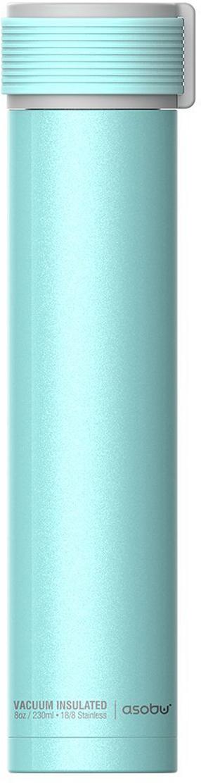 Термобутылка Asobu Skinny Mini, цвет: бирюзовый, 0,23 л бутылка asobu ice t 2 go цвет фиолетовый 400 мл