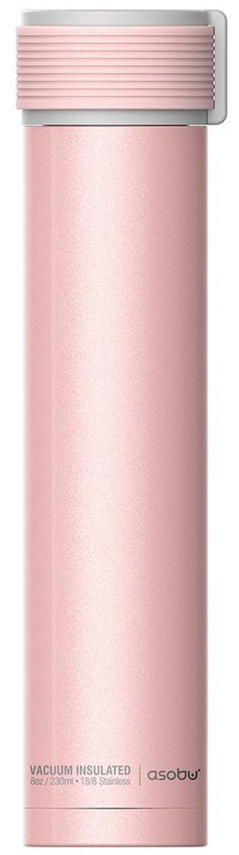 Термобутылка Asobu Skinny Mini, цвет: розовый, 0,23 л бутылка asobu ice t 2 go цвет фиолетовый 400 мл