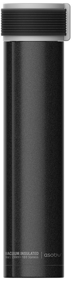"Термобутылка Asobu ""Skinny Mini"", цвет: черный, 230 мл"