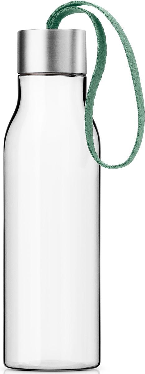 Бутылка для воды Eva Solo, цвет: зеленый, 500 мл503021Бутылка для воды Eva Solo подойдет для прогулок пешком или на велосипеде и для занятий спортом, а также ее можно взять с собой в офис или использовать на отдыхе. Благодаря удобному ремешку бутылку удобно переносить в руках, а герметично закрывающаяся крышка не позволяет жидкости разлиться, если бутылка находится в сумке. Модель выполнена из качественного ударопрочного пластика, в составе которого отсутствуют вредоносные примеси, такие как фталаты и бисфенол-А. Бутылка подходит для мытья в посудомоечной машине, крышку рекомендуется мыть вручную.