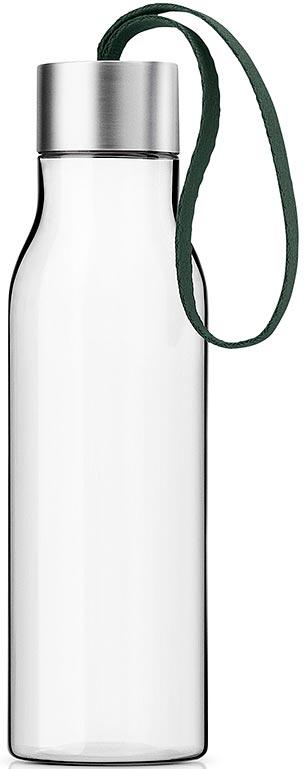 Бутылка для воды Eva Solo, цвет: темно-зеленый, 500 мл503026Бутылка для воды объемом 0,5 л прекрасно подойдет для прогулок пешком или на велосипеде, а также для занятий спортом. Благодаря тканевому ремешку бутылку удобно переносить в руках, а герметично закрывающаяся крышка не позволяет жидкости разлиться, если бутылка находится в сумке.Модель выполнена из качественного ударопрочного пластика, в составе которого отсутствуют вредоносные примеси, такие как фталаты и бисфенол-А. Бутылка подходит для мытья в посудомоечной машине, крышку рекомендуется мыть вручную.