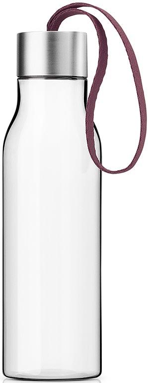 Бутылка для воды Eva Solo, цвет: бордовый, 500 мл503027Бутылка для воды Eva Solo подойдет для прогулок пешком или на велосипеде и для занятий спортом, а также ее можно взять с собой в офис или использовать на отдыхе. Благодаря удобному ремешку бутылку удобно переносить в руках, а герметично закрывающаяся крышка не позволяет жидкости разлиться, если бутылка находится в сумке.Модель выполнена из качественного ударопрочного пластика, в составе которого отсутствуют вредоносные примеси, такие как фталаты и бисфенол-А. Бутылка подходит для мытья в посудомоечной машине, крышку рекомендуется мыть вручную.