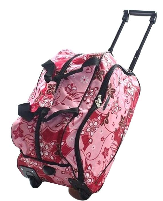 Сумка дорожная Ibag Розовые узоры, на колесах, цвет: розовый, 41 л1801 Розовые узорыДорожная сумка на колесах Ibag удобна тем, что в поездку можно взять больше вещей, не испытываяизлишних неудобств при транспортировке. Благодаря колесам нагрузка при передвижении уменьшается и путешествия проходят намного легче.Просто выдвиньте ручку ивозите сумку у себя за спиной, вместо того чтобы нести ее в руке или на плече. Сумка имеет вместительное отделение на молнии скарманом для мелочей и один карман на фронтальной части сумки. Для удобства транспортировки сумка оснащена выдвижной ручкой. Онанадежно фиксируется и превращает сумку в некое подобие тележки. Сумка на колесах с выдвижной ручкой занимает совсем немного места икрайне удобна в хранении. Данная сумка выполнена из легкой, очень прочной ткани которая великолепно сохраняет форму, устойчива ксветовому и тепловому воздействию и проста в уходе. Легкая и удобная, послужит незаменимымспутником как в деловой поездке так и в дальнем путешествии.