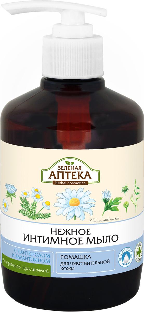 Зеленая Аптека Интимная гигиена Жидкое мыло Ромашка, для чувствительной кожи, 370 мл