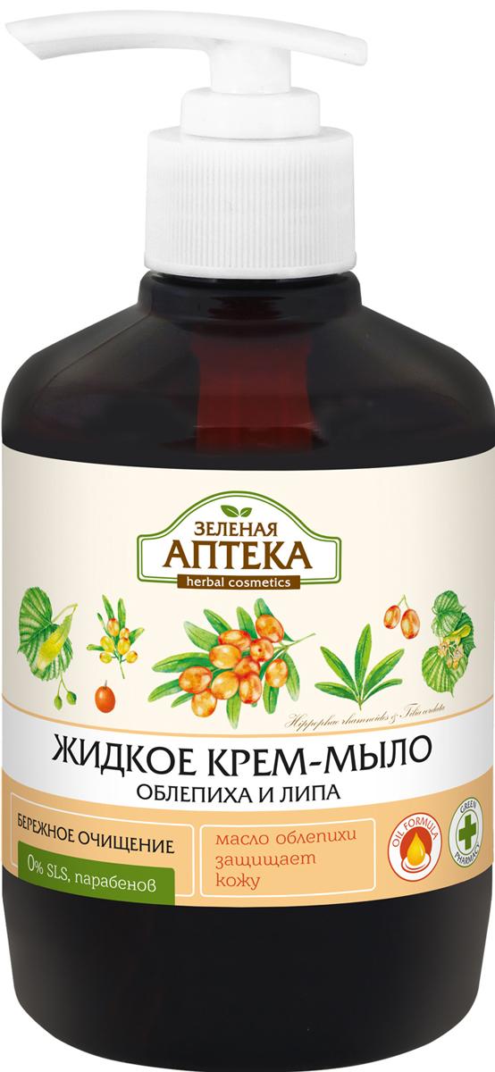 Зеленая Аптека Жидкое крем-мыло Облепиха и липа, 460 мл