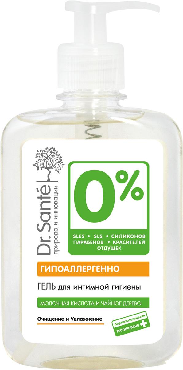 Dr.Sante 0% Гель для интимной гигиены, 250 мл4823015929311Гипоаллергенно Молочная кислота и чайное дерево 0% SLES, SLS, силиконов, парабенов, красителей, отдушек Очищение и увлажнение Дерматологически тестировано Гель для интимной гигиены обеспечивает бережное очищение и уход за нежной кожей интимных зон. Подходит для ежедневного использования. Содержит молочную кислоту, которая поддерживает естественную микрофлору с рН-баланс интимных зон, защищает от инфекций. Экстракт чайного дерева – природный антисептик – предупреждает и снимает раздражения. Гель имеет уровень рН, соответствующий оптимальному диапазону (рН 4.0-5.0) для ухода за интимными зонами.