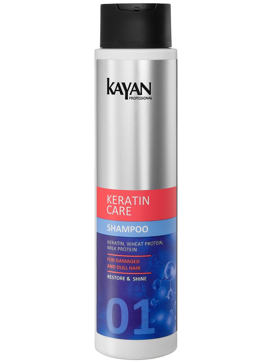 KAYAN Professional Шампунь KERATIN CARE, для поврежденных и тусклых волос, 400 мл eva kayan футболка женская eva kayan