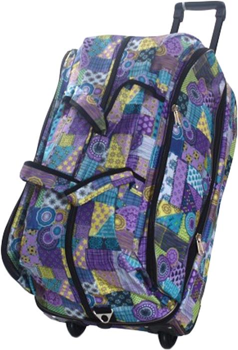 Сумка дорожная Ibag Стеганное одеяло, на колесах, цвет: синий, 78-94 л2421 Стеганное одеялоДорожная сумка на колесах Ibag Стеганное одеяло удобна тем, что в поездку можно взять больше вещей, не испытываяизлишних неудобств притранспортировке. Благодаря колесам нагрузка при передвижении уменьшается и путешествия проходят намного легче. Просто выдвиньте ручку ивозите сумку у себя за спиной, вместо того чтобы нести ее в руке или на плече. Сумка имеет вместительное отделение на молнии с карманом длямелочей и один карман на фронтальной части сумки. Для удобства транспортировки сумка оснащена выдвижной ручкой. Она надежнофиксируется и превращает сумку в некое подобие тележки. Сумка на колесах с выдвижной ручкой занимает совсем немного места и крайнеудобна в хранении. Данная коллекция выполнена из легкой, очень прочной ткани которая великолепно сохраняет форму, устойчива к световому итепловомувоздействию и проста в уходе, а так же некоторые модели коллекции выполнены из кожзаменителя. Легкая и удобная, послужит незаменимымспутником как в деловой поездке так и в дальнем путешествии.