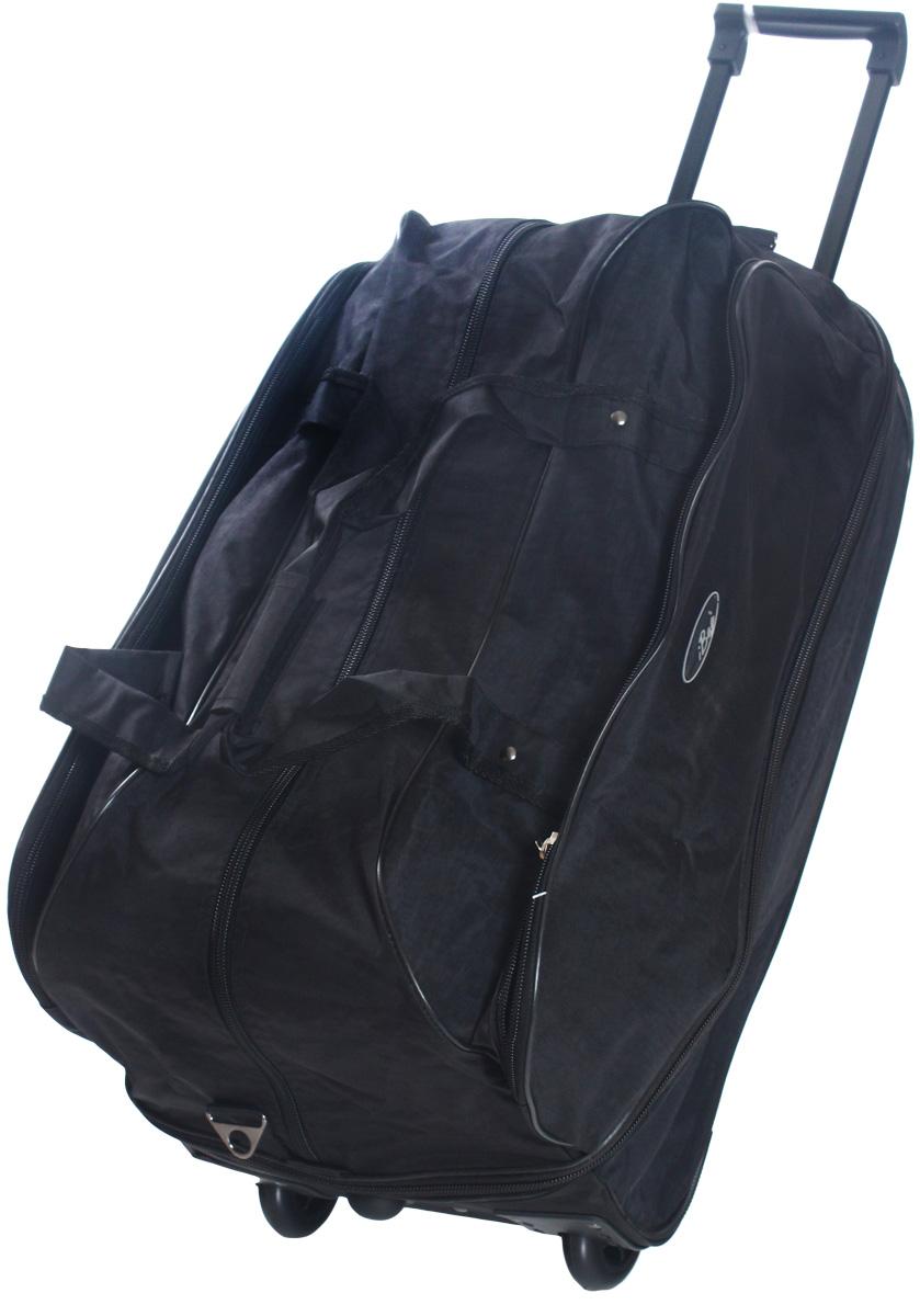 Сумка дорожная Ibag Черная жатка, на колесах, цвет: черный, 78-94 л2421 Черная жаткаДорожная сумка на колесах Ibag Черная жатка удобна тем, что в поездку можно взять больше вещей, не испытывая излишних неудобств притранспортировке. Благодаря колесам нагрузка при передвижении уменьшается и путешествия проходят намного легче. Просто выдвиньте ручку ивозите сумку у себя за спиной, вместо того чтобы нести ее в руке или на плече. Сумка имеет вместительное отделение на молнии с карманом длямелочей и один карман на фронтальной части сумки. Для удобства транспортировки сумка оснащена выдвижной ручкой. Она надежнофиксируется и превращает сумку в некое подобие тележки. Сумка на колесах с выдвижной ручкой занимает совсем немного места и крайнеудобна в хранении. Данная коллекция выполнена из легкой, очень прочной ткани которая великолепно сохраняет форму, устойчива к световому и тепловомувоздействию и проста в уходе, а так же некоторые модели коллекции выполнены из кожзаменителя. Легкая и удобная, послужит незаменимымспутником как в деловой поездке так и в дальнем путешествии.