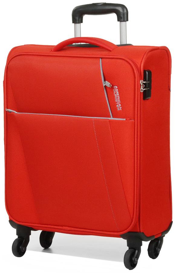 Чемодан American Tourister Joyride, цвет: ярко-красный, 37,5 л. 36G-00002 джемпер для мальчика overmoon by acoola baruba цвет серый 21120310004 1900 размер 128