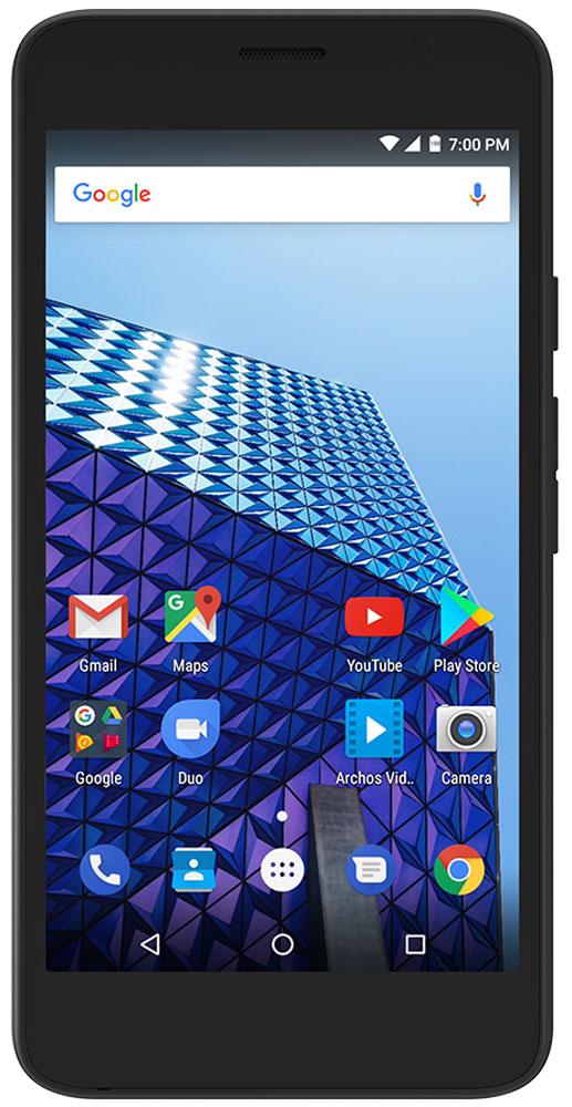 Archos Access 55 3G, BlackAccess 55Archos Access 55 3G имеет экран IPS размером 5,5 дюймов (960 x 540). Он обеспечивает четкие цвета и превосходные углы обзора для просмотра любого мультимедийного контента.Archos Access 55 3G оснащен современным четырехъядерным процессором (1,3 ГГц), мощности которого достаточно для запуска ваших приложений, игр и интернет серфинга на ходу.Благодаря поддержке 3G соединения, вы можете запускать онлайн-приложения и просматривать интернет где угодно, используя Archos Access 55 3G.Снимайте все, что считайте важным и интересным с помощью фронтальной 2MP и основной 8MP камер.От игр и до просмотра видео - 1 ГБ оперативной и 8 ГБ встроенной памяти помогут справиться с любой задачей.На Archos Access 55 3G установлена система Android 7.0 Nougat, обеспечивающая его быструю и надежную работу.Смартфон сертифицирован EAC и имеет русифицированный интерфейс меню и Руководство пользователя.