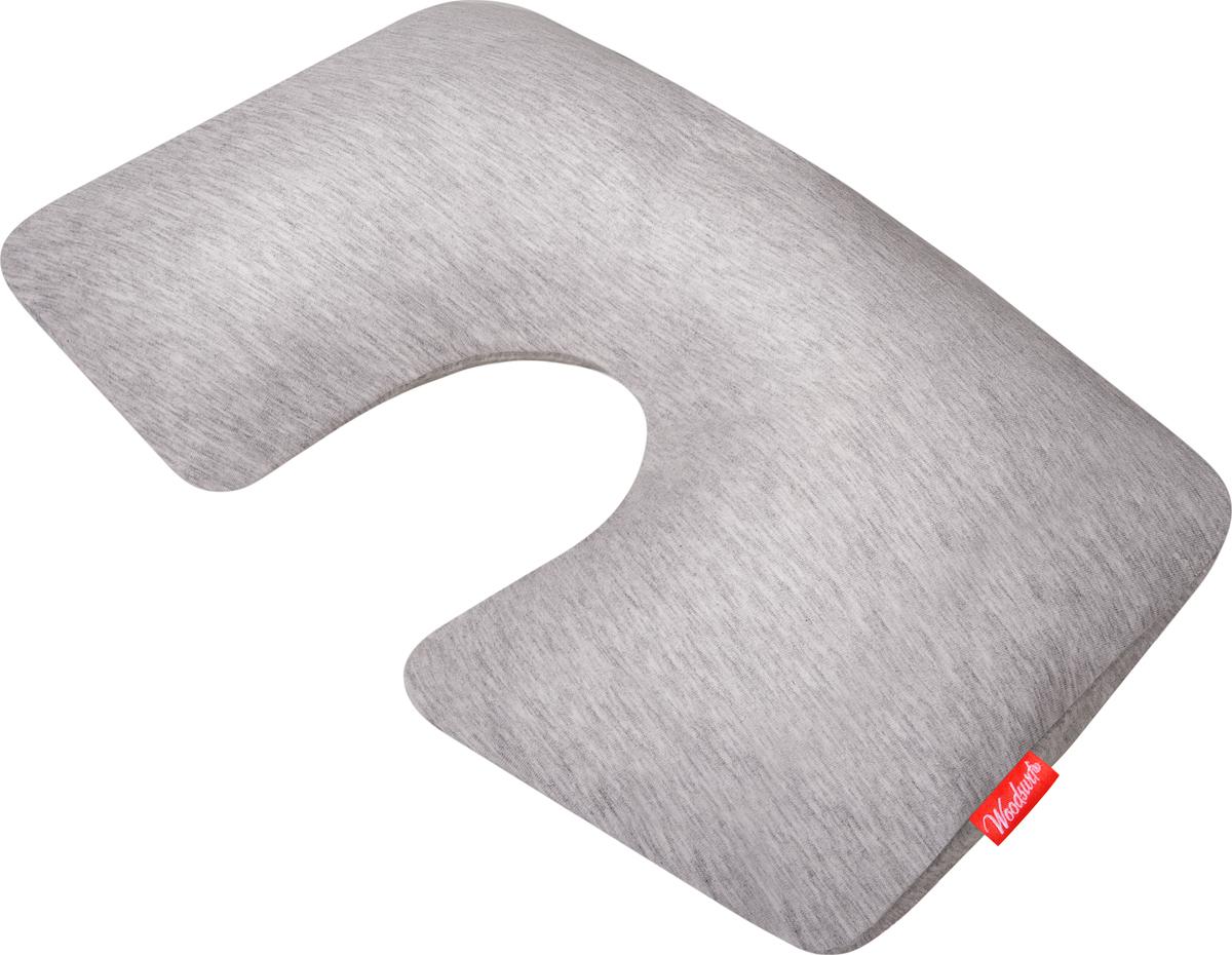 Подушка надувная Woodsurf  First Class , цвет: серый меланж - Подушки
