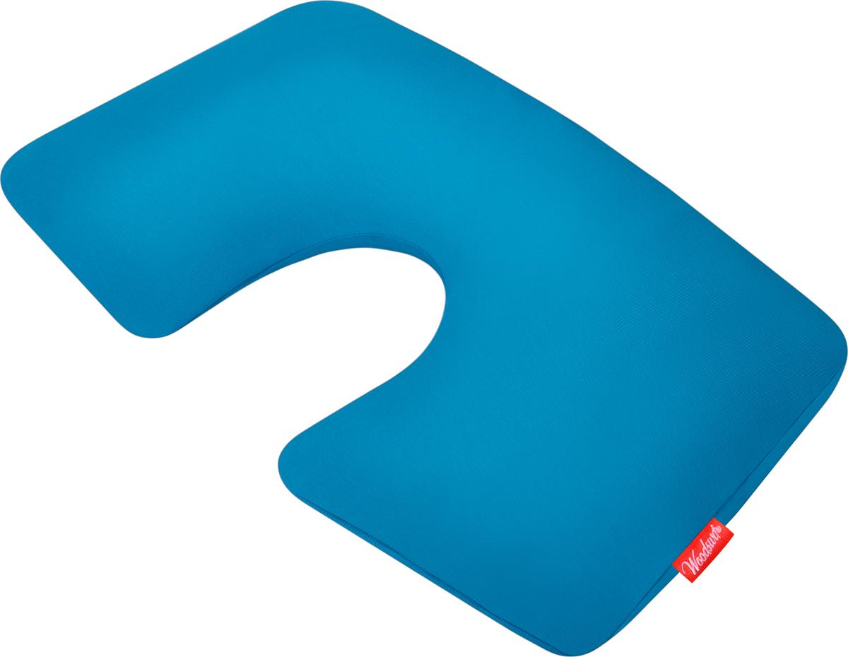 Подушка надувная Woodsurf First Class, цвет: бирюзовыйFCTP-04Надувная подушка-подголовник First Class от Woodsurf предназначена для использования во время путешествий, отдыха дома, в целях терапевтической поддержки шеи и головы в повседневном использовании в офисе, дома или за рулем.Внутренняя надувная камера подушки, изготовленная из плотного матового PVC, надежна и не пропускает воздух.Практичная надувная подушка для шеи First Class подарит ощущение комфорта во время перелета в самолете, а мягкий верхний слой из хлопка пенье будет оберегать вашу кожу от раздражения!После использования, подушку, без усилий выпустив воздух из внутренней камеры, можно убрать в чехол для транспортировки, входящий в комплект. Чехол для транспортировки изготовлен из того же материала, что и сама подушка - высококачественного хлопка пенье.Надувная подушка для шеи First Class займет совсем немного места в вашей сумке. Подушку можно стирать, предварительно удалив внутреннюю надувную камеру.