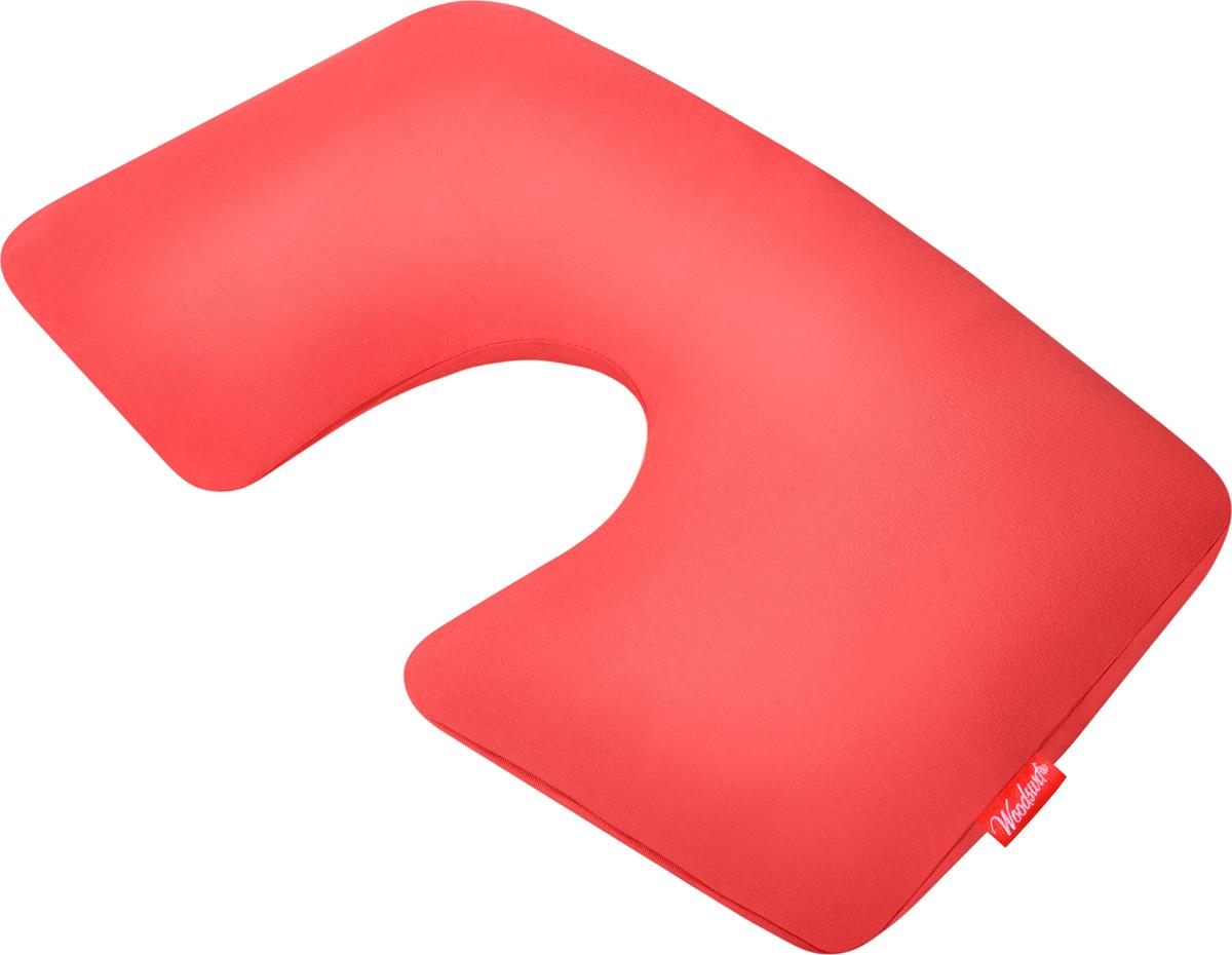 Подушка надувная Woodsurf  First Class , цвет: коралловый - Подушки