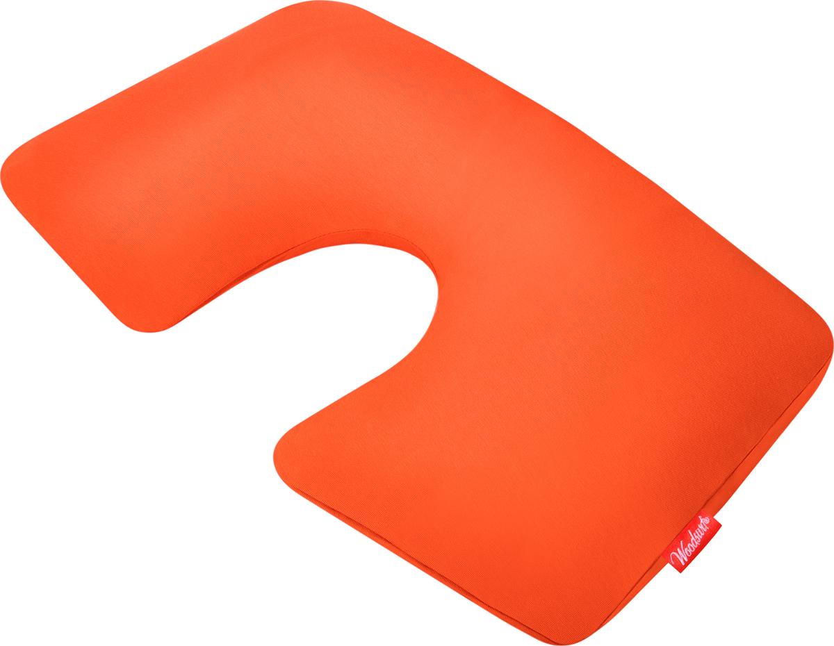 Подушка надувная Woodsurf First Class, цвет: оранжевый подушка в дорогу для шеи купить