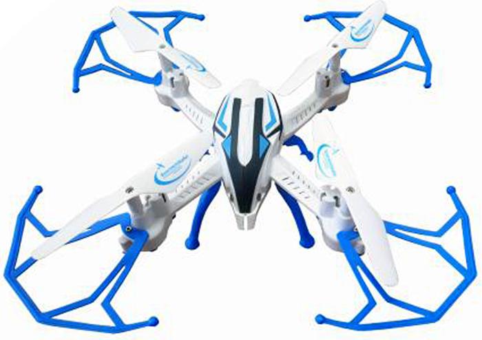 Властелин небес Квадрокоптер на радиоуправлении Зоркий цвет белый голубой властелин небес вертолет на радиоуправлении ветерок цвет зеленый