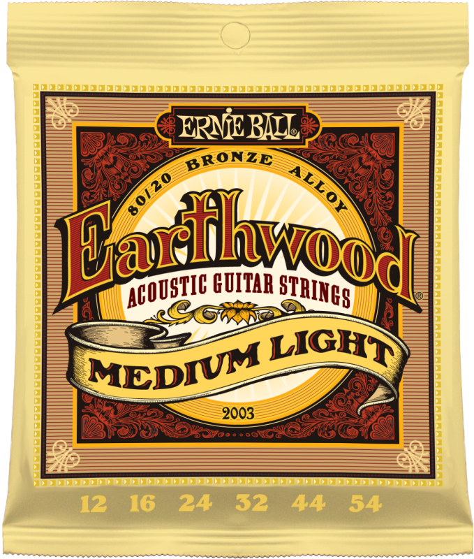 Ernie Ball Earthwood Medium Light 80/20 Bronze струны для акустической гитары (12-54) fender strings new acoustic 70cl 80 20 bronze 11 50