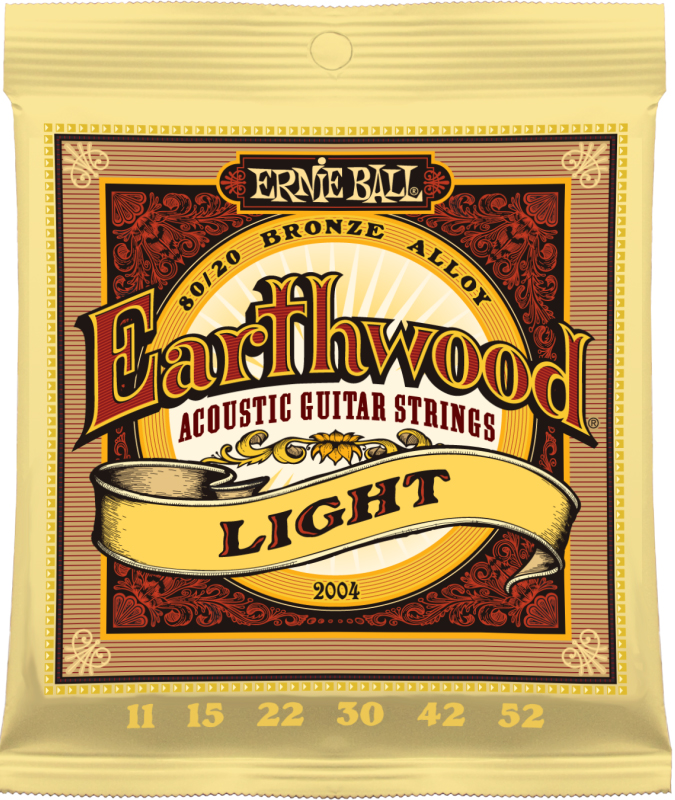 Ernie Ball 2004 струны для акустической гитары Earthwood 80/20 Bronze Light (11-15-22w-30-42-52) fender strings new acoustic 70cl 80 20 bronze 11 50