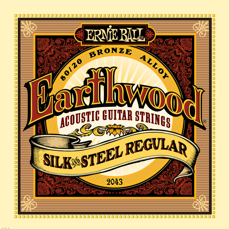Ernie Ball Earthwood Silk & Steel Regular 80/20 Bronze струны для акустической гитары (13-56) fender strings new acoustic 70cl 80 20 bronze 11 50