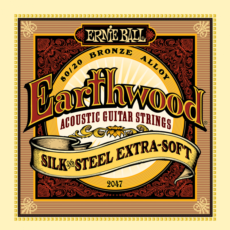 Ernie Ball Earthwood Silk & Steel Extra Soft 80/20 Bronze струны для акустической гитары (10-50) fender strings new acoustic 70cl 80 20 bronze 11 50