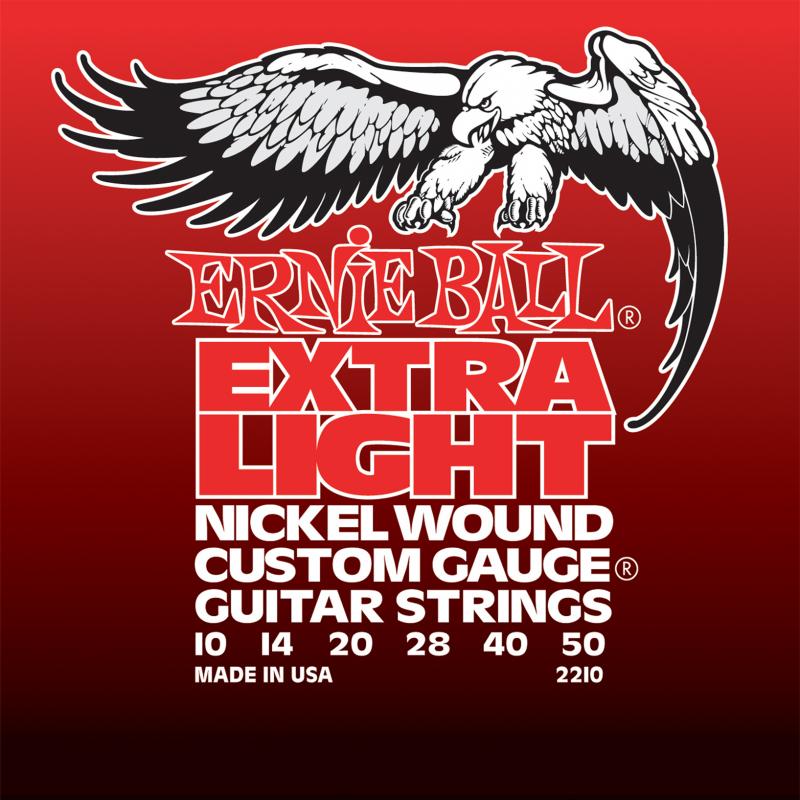 Ernie Ball Extra Light Nickel Wound струны для электрической гитары (10-50) - Гитарные аксессуары и оборудование